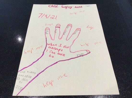 Year 2 News - 12 Layla_s Safety Hand