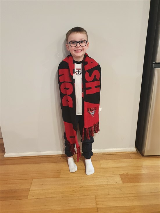 Footy day - Aiden
